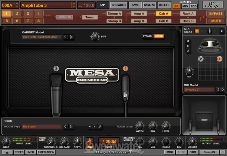 ik multimedia amplitube 4 and mesa boogie software bundle. Black Bedroom Furniture Sets. Home Design Ideas