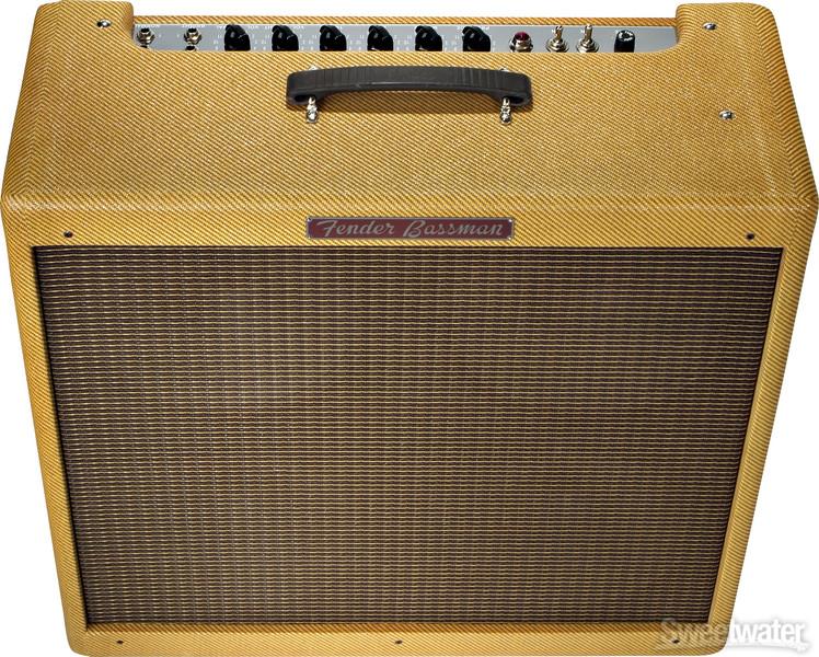 fender 39 59 bassman ltd 45w 4x10 guitar combo amp tweed. Black Bedroom Furniture Sets. Home Design Ideas
