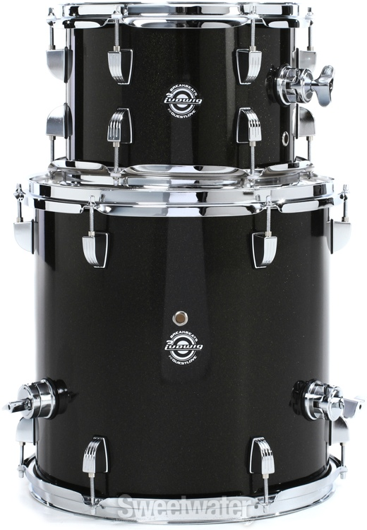 ludwig breakbeats by questlove 4 piece shell pack with snare drum black gold sparkle. Black Bedroom Furniture Sets. Home Design Ideas