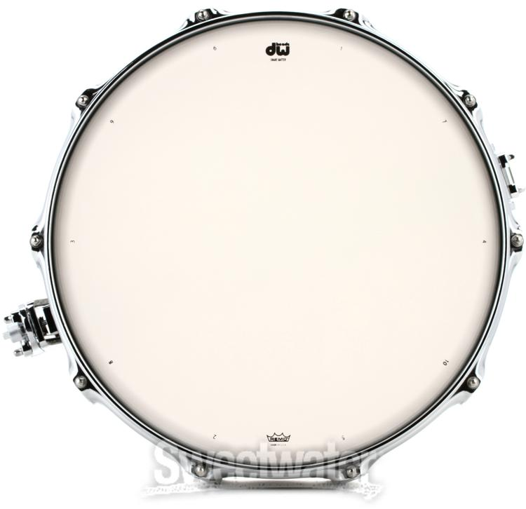 dw collector 39 s series finish ply snare 6 x14 broken glass. Black Bedroom Furniture Sets. Home Design Ideas