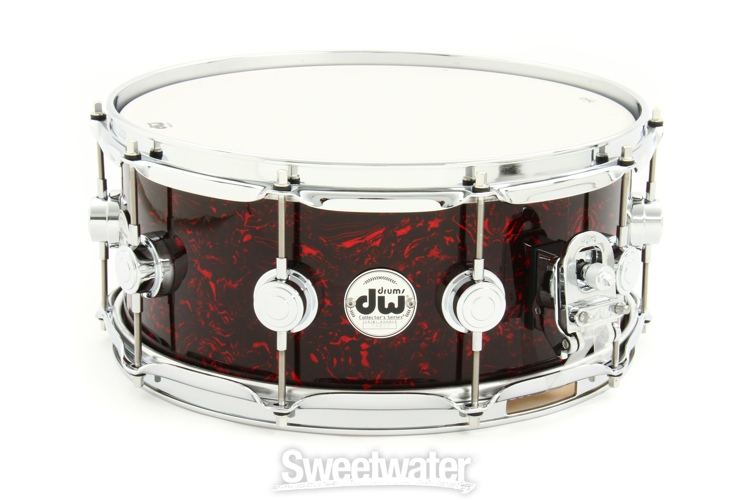 dw collector 39 s series finish ply series snare 6 x14 red velvet. Black Bedroom Furniture Sets. Home Design Ideas