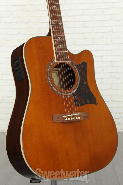 epiphone dr 500mce acoustic electric guitar review sweetwater. Black Bedroom Furniture Sets. Home Design Ideas