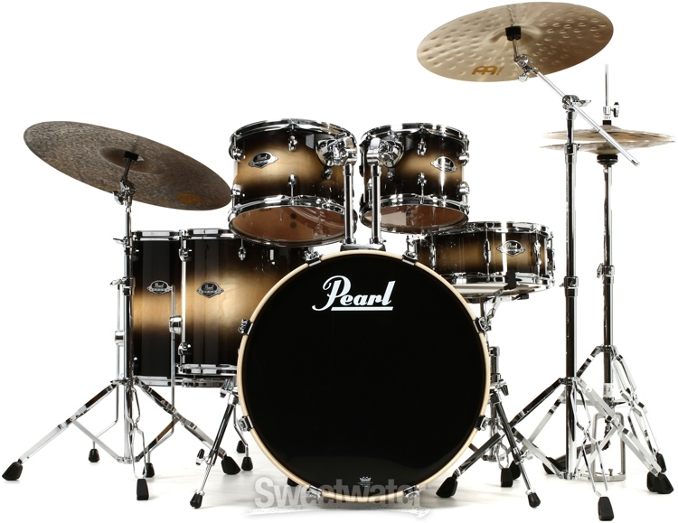 pearl export exl 6 piece rock drum set with hardware nightshade lacquer. Black Bedroom Furniture Sets. Home Design Ideas