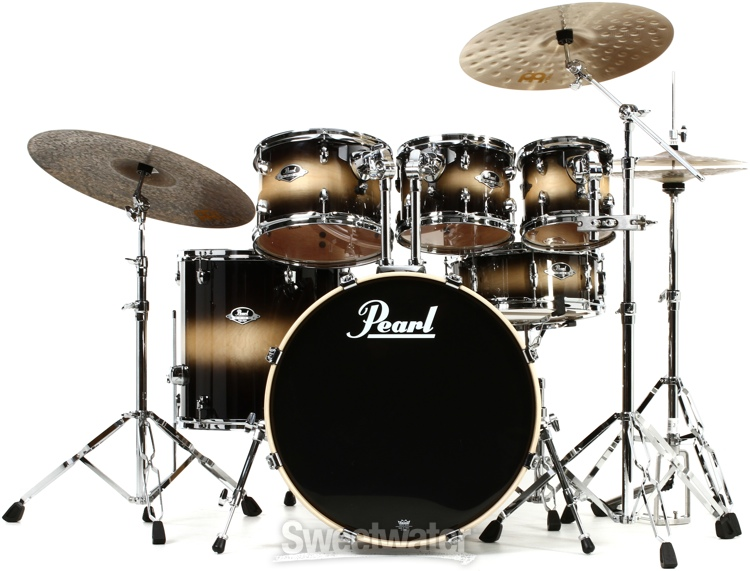 pearl export exl 6 piece drum set with hardware nightshade. Black Bedroom Furniture Sets. Home Design Ideas