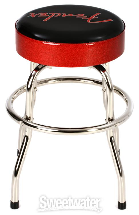 Fender Accessories Logo Barstool Red And Black 24