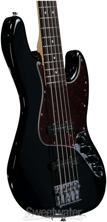 Fender Deluxe Active Jazz Bass V Black Sweetwater Com