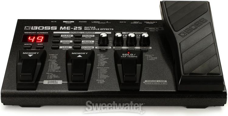 Immediate Credit Card >> Boss ME-25 Guitar Multi-Effects | Sweetwater.com