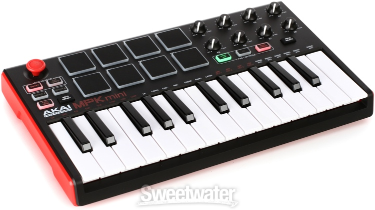 akai mpk mini mk2 usb keyboard controller overview sweetwater at winter sweetwater. Black Bedroom Furniture Sets. Home Design Ideas