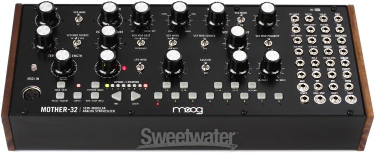 moog mother 32 semi modular eurorack format analog synthesizer and step sequencer. Black Bedroom Furniture Sets. Home Design Ideas