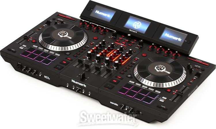 Numark ns7iii dj controller demo by sweetwater sweetwater for Dj controller motorized platters