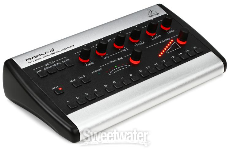 behringer powerplay p16 m 16 channel digital personal mixer. Black Bedroom Furniture Sets. Home Design Ideas
