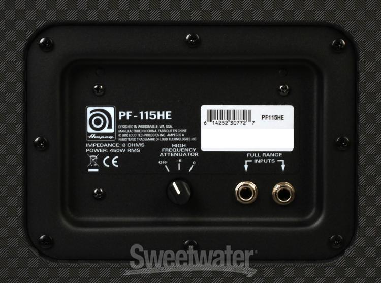 ampeg pf 115he 1x15 450 watt portaflex bass cabinet with horn. Black Bedroom Furniture Sets. Home Design Ideas