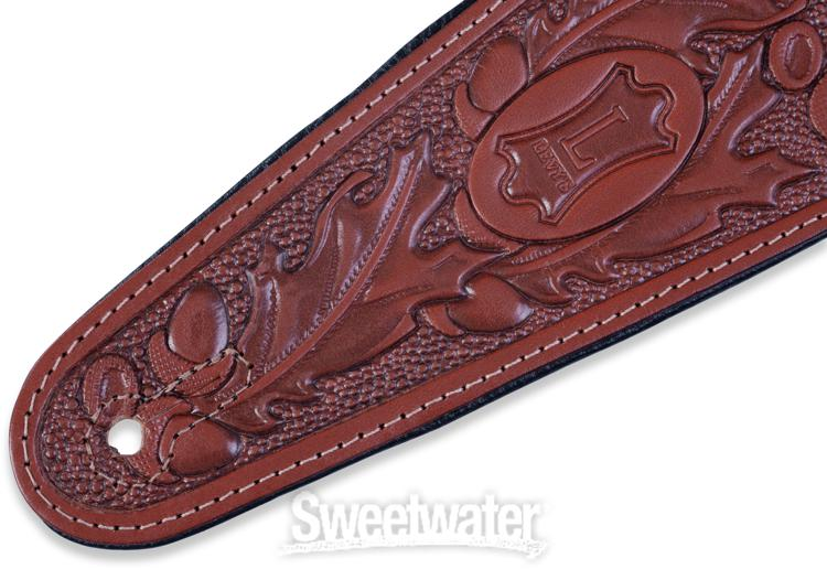 Levy S Pm44t01 3 Quot Acorn Tooled Leather Guitar Strap