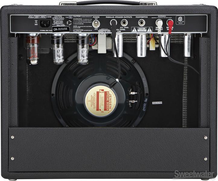 fender 39 65 princeton reverb 15w 1x10 guitar combo amp. Black Bedroom Furniture Sets. Home Design Ideas