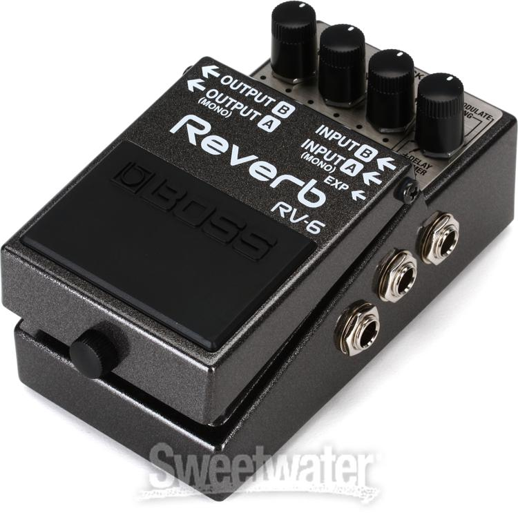 boss rv 6 reverb pedal review by sweetwater sweetwater. Black Bedroom Furniture Sets. Home Design Ideas
