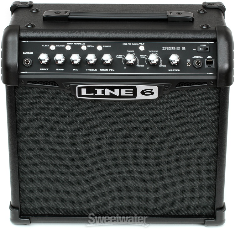 Line 6 Spider Iv 15 Modeling 15w 1x8 Quot Guitar Combo Amp