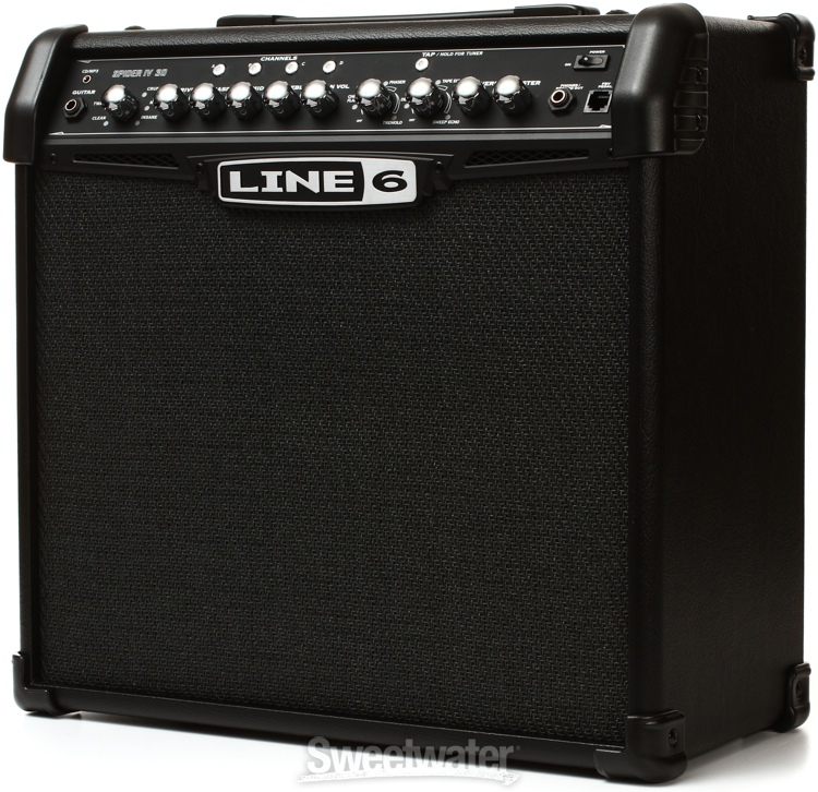 line 6 spider iv 30 modeling 30w 1x12 guitar combo amp. Black Bedroom Furniture Sets. Home Design Ideas