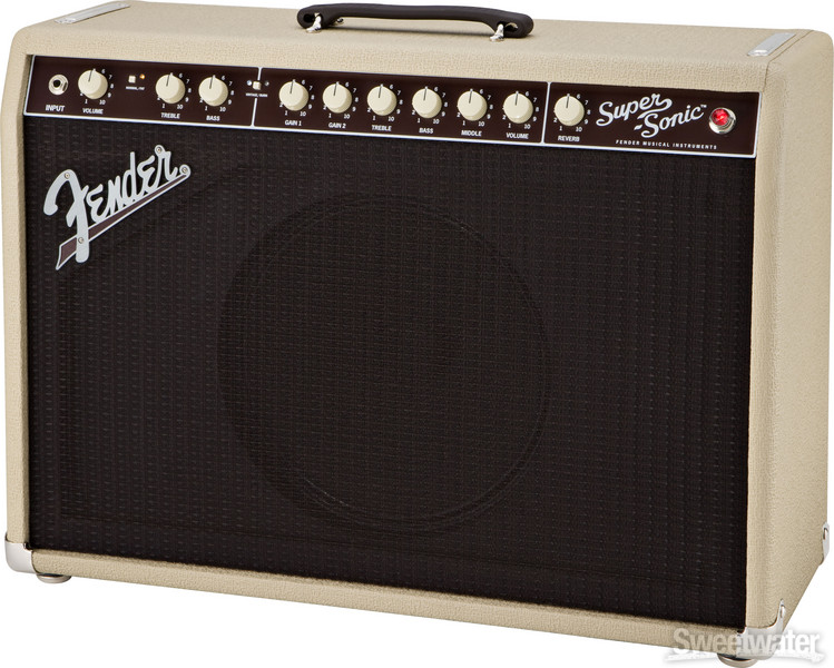 fender super sonic 22 22w 1x12 guitar combo amp blonde. Black Bedroom Furniture Sets. Home Design Ideas