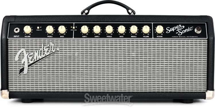 fender super sonic 22 22 watt tube head black. Black Bedroom Furniture Sets. Home Design Ideas