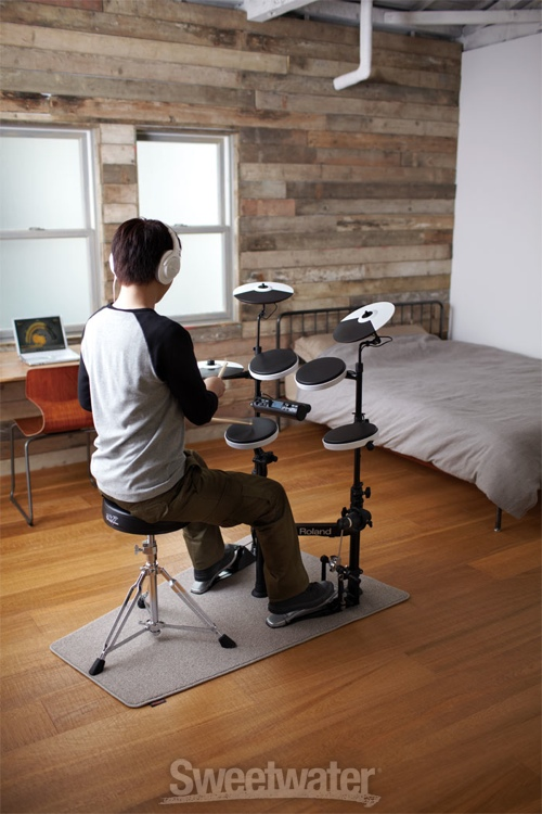 roland v drums portable td 4kp electronic drum kit. Black Bedroom Furniture Sets. Home Design Ideas
