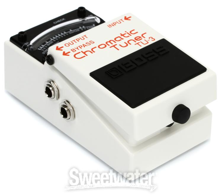 Boss Tu 3 Chromatic Tuner Pedal With Bypass Sweetwater Com