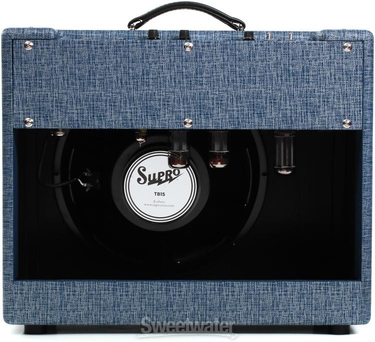 supro s6420 thunderbolt plus 60 45 35w 1x15 guitar combo amp. Black Bedroom Furniture Sets. Home Design Ideas