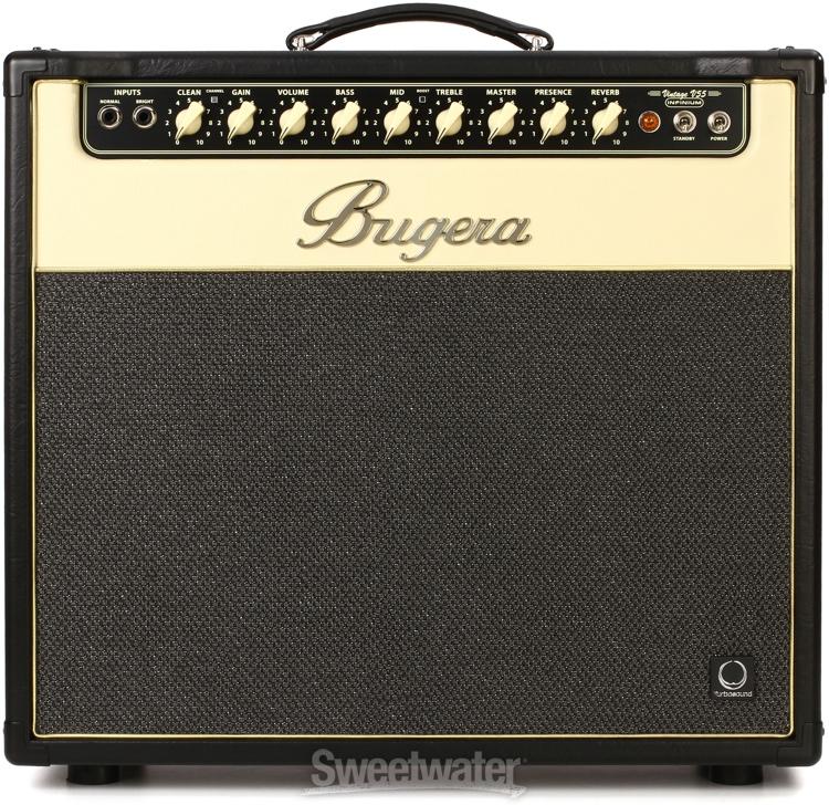 Bugera v55 infinium 55w 1x12 quot guitar combo amp sweetwater com