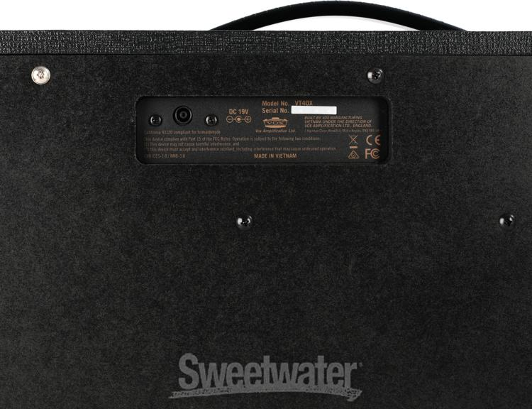 vox vt40x modeling combo amp demo by sweetwater sweetwater. Black Bedroom Furniture Sets. Home Design Ideas