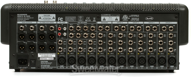 Behringer Xenyx Xl1600 Sweetwater Com
