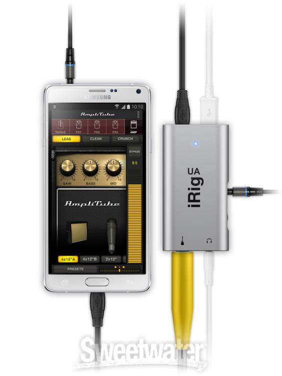 ik multimedia irig ua guitar interface for android demo by sweetwater