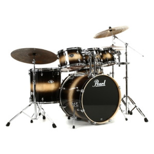 pearl export exl 6 piece drum set with hardware honey amber. Black Bedroom Furniture Sets. Home Design Ideas