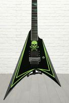 ESP LTD ALEXI-600 GREENY - Black w/ Green Skull & Stripe