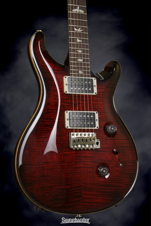 PRS Custom 24 (10-Top Fire Red Burst, Pat-Reg), Serial: 196750