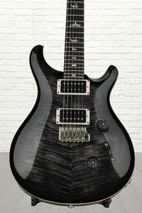 PRS Custom 24 Figured Top - Charcoal Burst with Pattern Regular Neck