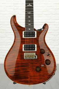 PRS Custom 24 Piezo 10-Top - Orange Tiger with Pattern Thin Neck