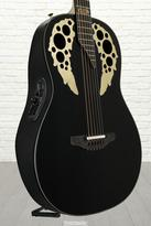 Ovation 50th Anniversary USA Custom Elite, USA Limited Run - Gloss Black, w/Cutaway