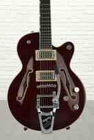 Gretsch G6655TFM Players Edition Broadkaster Jr. Center Block - Dark Cherry Stain, Bigsby Tailpiece