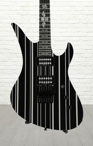 Schecter Synyster Gates Custom - SYN Black with Silver Stripes
