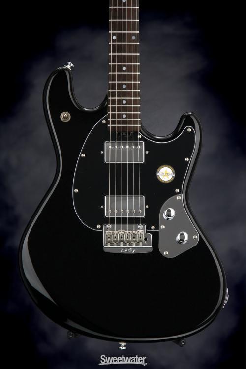 sterling stingray guitar black. Black Bedroom Furniture Sets. Home Design Ideas