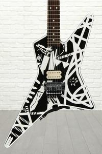 EVH Stripe Series Star - Black and White Stripes