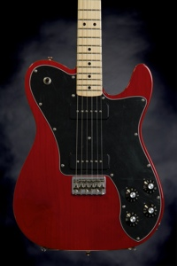 Fender Classic Player Telecaster Deluxe with Black Dove Pickups (Crimson Red Transparent)