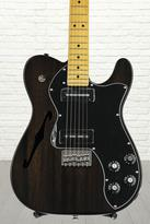 Fender Modern Player Telecaster Thinline Deluxe - Black Transparent