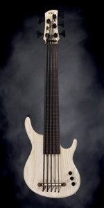 Kala Solid Body U-Bass (5-String, Fretless, Sat Nat Ash)