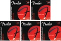 Fender Accessories 250R Nickel-Plated Steel Electric Strings (.010-.046 Regular 5-Pack)