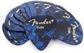 Fender Accessories 351 Premium Guitar Picks Thin 12-Pack (Blue Moto)