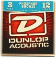 Dunlop DAP1254 Phosphore Bronze Acoustic Strings (.012-.054 - 3 Pack)