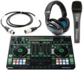 Roland DJ808 with Sennheiser HD6 Mix, e835 S, and Cable