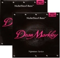 Dean Markley 2606A Nickel Steel Bass Guitar Strings (.048-.106 Medium 2-Pack)