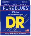 DR Strings PHR-10 Pure Blues Nickel Electric Strings (.010-.046 Medium)