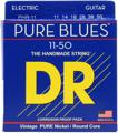 DR Strings PHR-11 Pure Blues Nickel Electric Strings (.011-.050 Heavy)